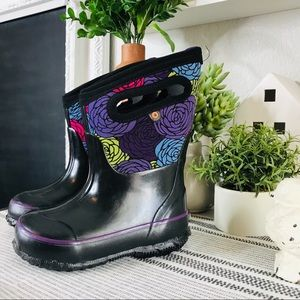 BOGS floral waterproof boots sz 7 toddler new